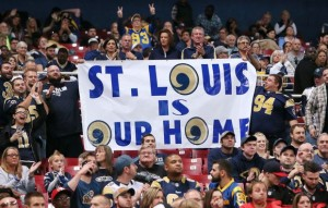 St. Louis banner showing their disappointment