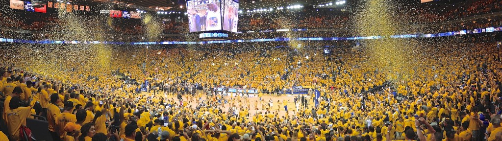 Warriors win Game 6 of the first round of the 2013 playoffs over the Denver Nuggets at Oracle Arena.