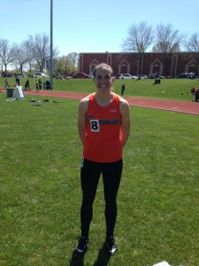 Chelsea Gilles after her 200 and 400 meter races. Image from Austin Brinkman