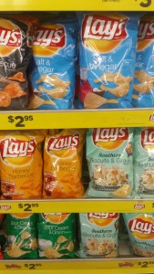 lays chips display