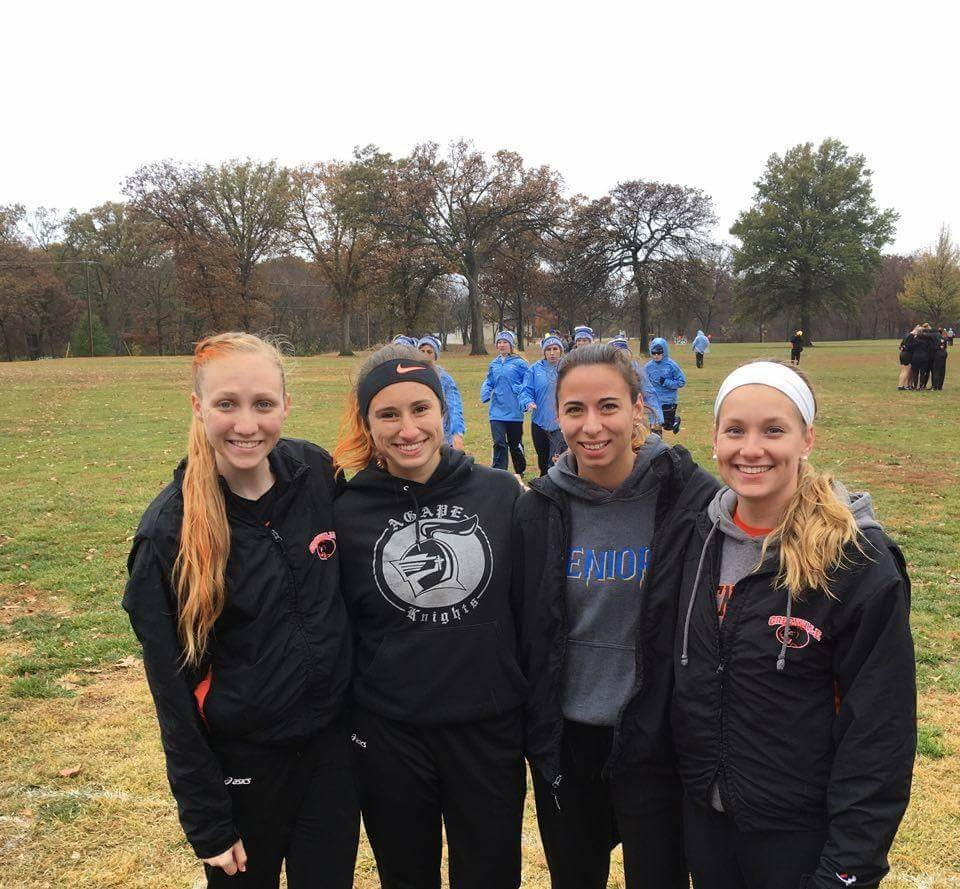 "Senior ladies at one of their last home cross country meets. ""Sic'm Panthers"" Image by Sylvia Haygood"