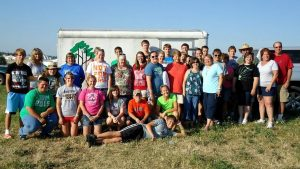 Carrie Baker's Youth Group at Icthus Christian Music Festival. Photo provided by Carrie Baker