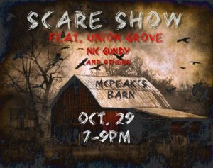 Flier for the Scare Show