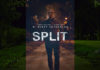 """James McAvoy walking on a dimly lit sidewalk at night. The movie title, """"Split,"""" is written across the image."""
