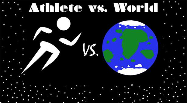 Athlete vs. World Logo