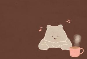 Bear relaxing illust