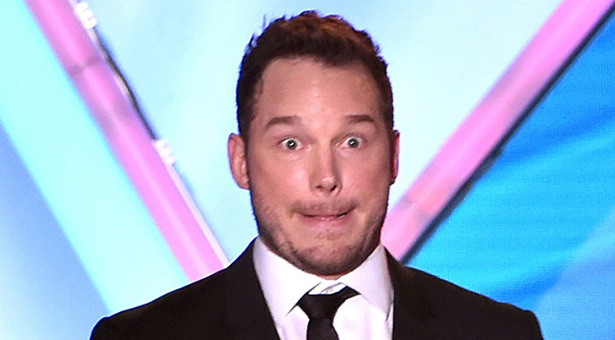 Chris Pratt making a funny face.