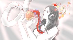 Snake & Human Illust by Momoka M