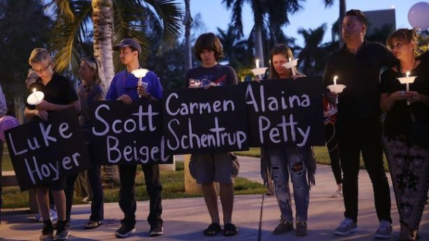 Parkland, FL students holding memorial for victims of shooting