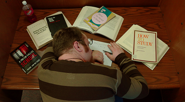 Student passed out on library desk