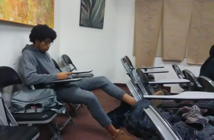 Student Relaxing