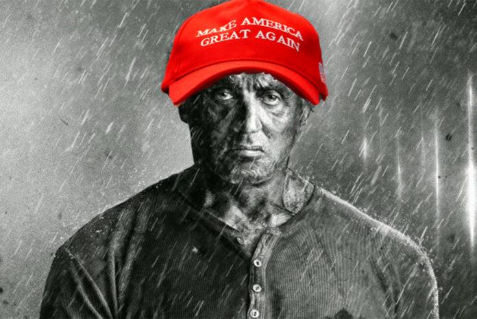 Rambo in a MAGA hat