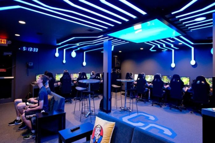 Example of a Collegiate E-sports Gaming Room. Media by Columbiabusinesstimes.com