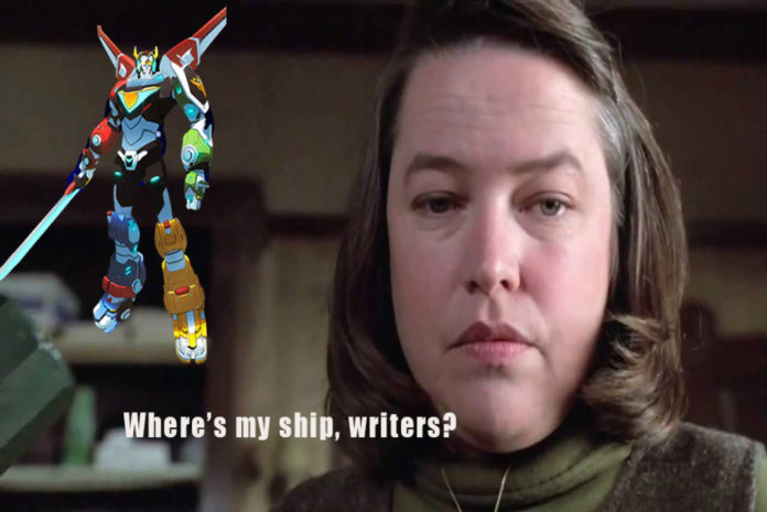 Annie WIlkes next to a Voltron Logo. Media by Thomas B.