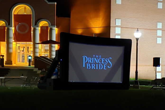 The Princess Bride playing nest to the Greenville Universtiy Library