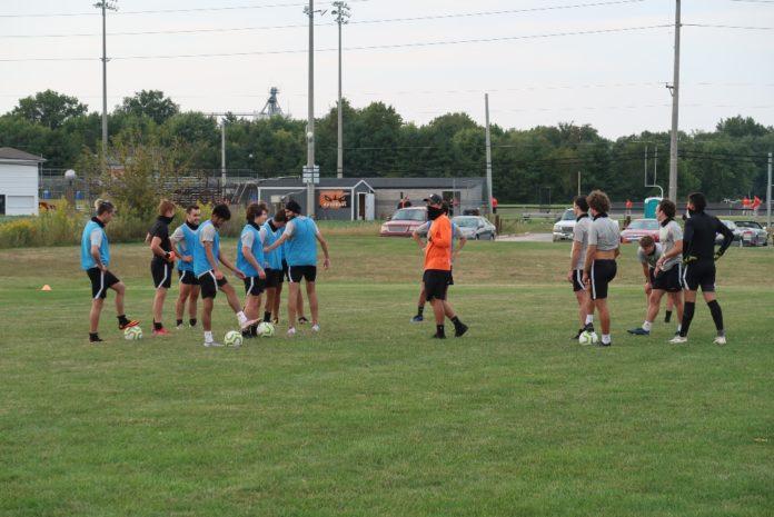 GU Men´s Soccer during practice. Media by José Soutullo Fernández
