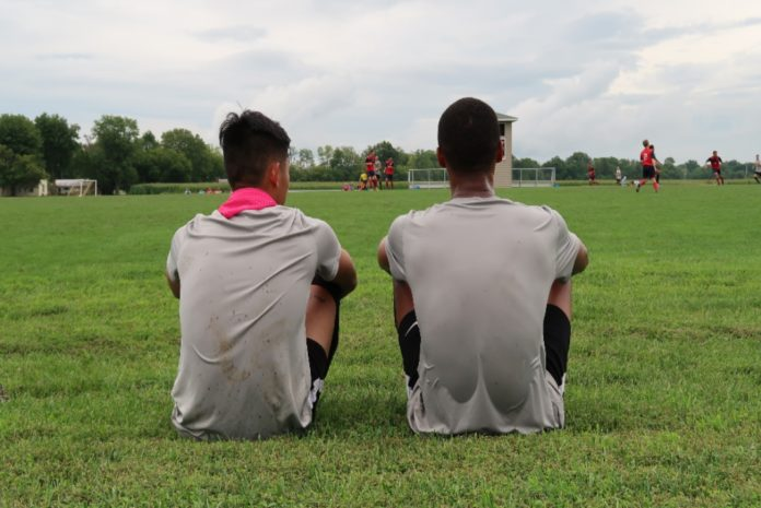 Men´s Soccer team caption during the 2019 preseason. Media by José Soutullo Fernández